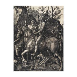 De Ridder van Albrecht Dürer, Dood en de Duivel Canvas Afdruk