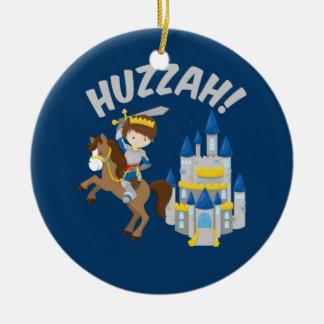 De Ridder van Faire van de Renaissance van Huzzah Rond Keramisch Ornament