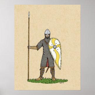 De Ridder van Norman, Circa 1066 Poster
