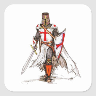 De Ridder van Templar Vierkante Sticker