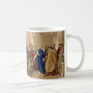 De ridders van de Bijeenkomst ongeveer om te Koffiemok