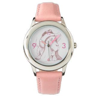 De Riem van het Leer van het Horloge w/Pink van