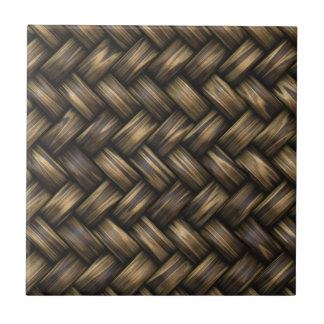 De rieten Mand van het Patroon van de Rotan Tegeltje Vierkant Small