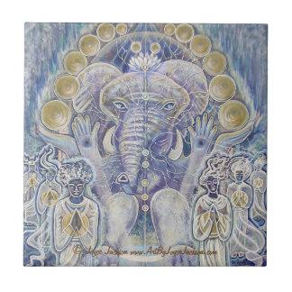 De Rijkdom die van Ganesha Ceramiektegels zegenen Tegeltje