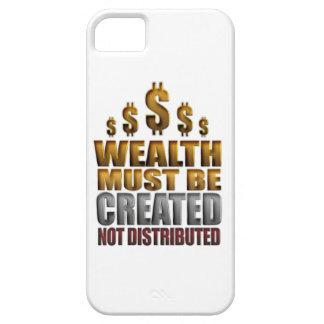 De rijkdom moet het Creëere Verdeelde niet Hoesje