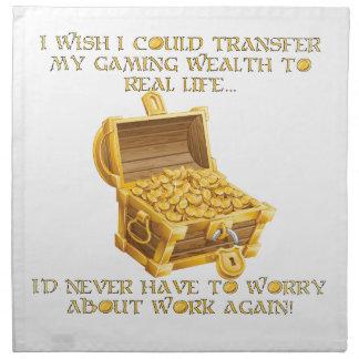 De rijkdom van het gokken katoenen servet