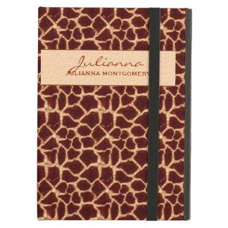 De rijke Bruine en Tan Druk van de Giraf iPad Air Hoesje