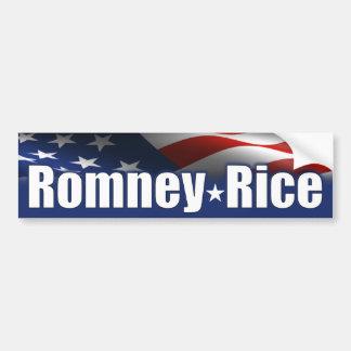De Rijst 2012 van Romney Bumpersticker