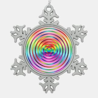 De Rimpelingen van de regenboog Tin Sneeuwvlok Ornament