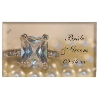 De Ring van de Diamant van de prinses en het Plaatskaart Houder