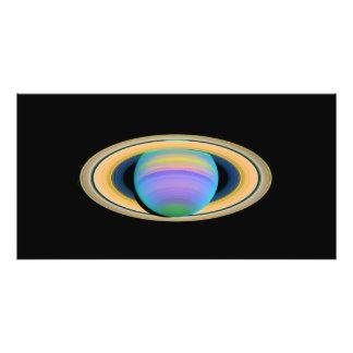 De Ringen van Saturn van de planeet in Ultraviolet Foto Afdrukken