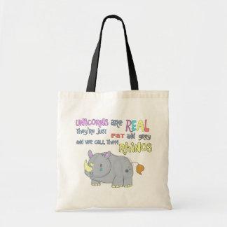 de rinocerossen zijn enkel de lelijke zak van het draagtas