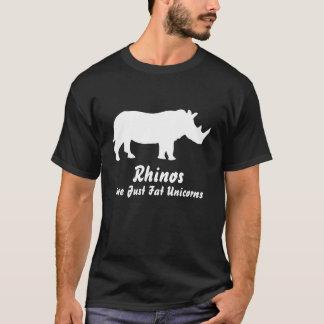 De rinocerossen zijn enkel vette eenhoorns - t shirt