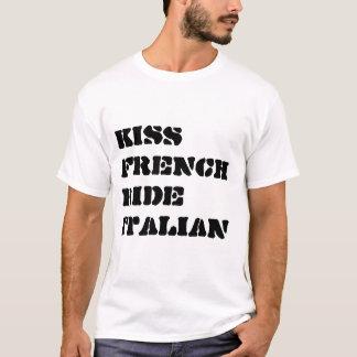 DE RIT HET ITALIAANS VAN DE KUS FENCH T SHIRT