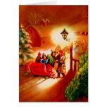 De rit van de Ar - Vintage Kerstkaart Kaart
