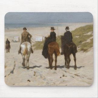 De Rit van de ochtend op het Strand - Mauve Anton Muismat