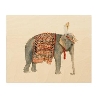 De Rit van de olifant Hout Afdruk