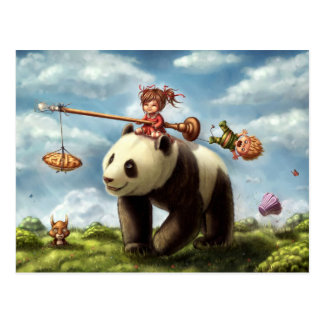 De Rit van de panda Briefkaart