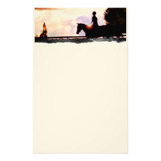 De Rit van de zonsondergang Briefpapier