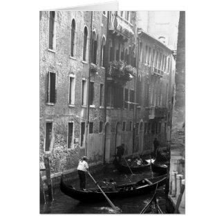 De Rit Venetië Italië van de gondel Wenskaart