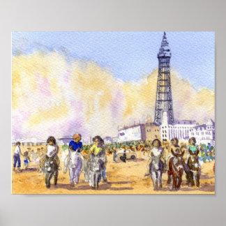De Ritten van de ezel - Blackpool Poster