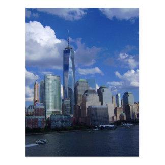De Rivier Hudson van het World Trade Center WTC Briefkaart