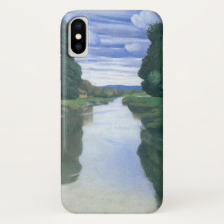 De rivier in Berville door Felix Vallotton iPhone X Hoesje