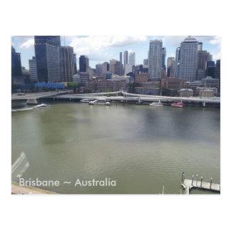 De Rivier van Brisbane, Brisbane, Queensland, Briefkaart