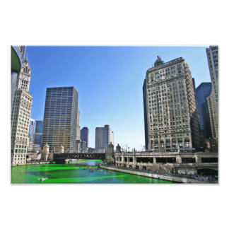 De Rivier van Chicago op St. de Dag van het Foto