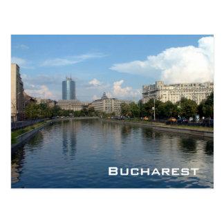 De rivier van Dambovita - Boekarest Briefkaart