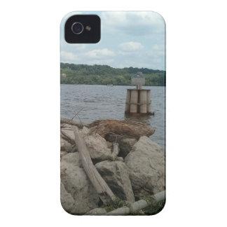 De Rivier van Dubuque Iowa de Mississippi van iPhone 4 Hoesje