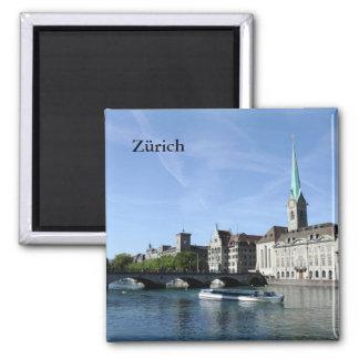 De Rivier van Limmat in Zürich Magneet