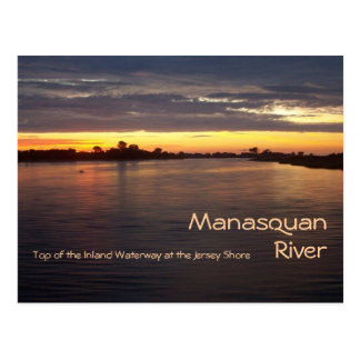 De Rivier van Manasquan in Dawn Briefkaart