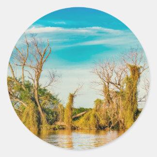 De Rivier van Parana, San Nicolas, Argentinië Ronde Sticker