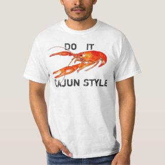 de rivierkreeften doen het Stijl Cajun T Shirt