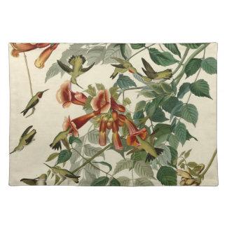 De Robijnrode Kolibries Throated van Audubon Placemat