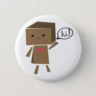De Robot van het karton: hallo! Ronde Button 5,7 Cm