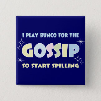 De Roddel van Bunco Vierkante Button 5,1 Cm