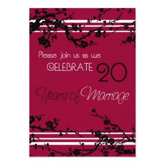 De rode 20ste Kaart van de Uitnodiging van het