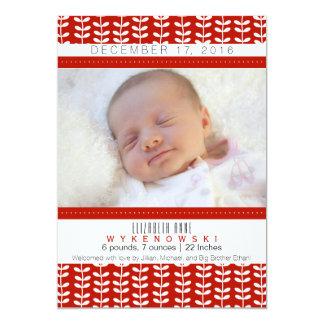 De rode Aankondiging van de Geboorte van de Foto