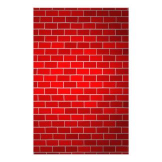 De rode Achtergrond van de Baksteen w/Spotlight Briefpapier