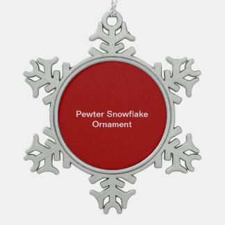 De Rode Achtergrond van het Ornament van de Sneeuw Tin Sneeuwvlok Ornament