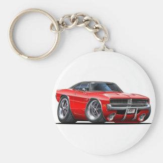 De Rode Auto van de Lader van Dodge Sleutelhanger