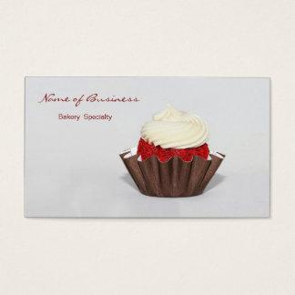 De rode Bakkerij van Cupcake van het Fluweel Visitekaartjes