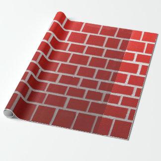 De rode baksteenschoorsteen ziet eruit cadeaupapier