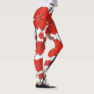 De rode Beenkappen van de Bloem Leggings