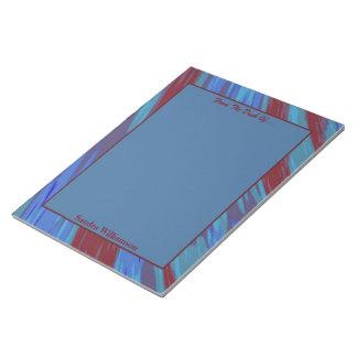 De rode Blauwe Samenvatting van de Slis van de Notitieblok