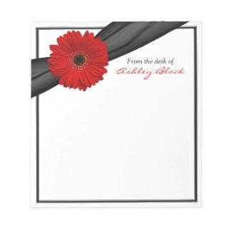De rode Blocnote van Gerber Daisy Ribbon Personali