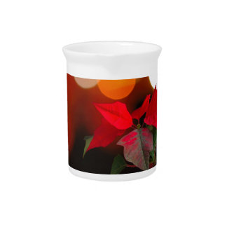 De rode bloem van Poinsettia Drink Pitcher