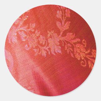 De rode Bloemen Klantgerichte Sticker van de